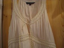 FRENCH CONNECTION CREAM GRECIAN STYLE DRESS SIZE UK 14