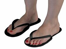 Disponible Negro Flip Flop Pedicura Bronceado Spa Zapatillas Paquete De 12 Pares
