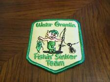 WATER GREMLIN FISHIN' SINKER TEAM FISHING LURE PATCH  ( PUT ON VEST HAT JACKET )