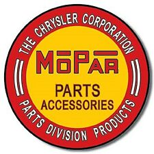 Mopar Parts round metal wall sign       (de)  Fast dispatch from UK