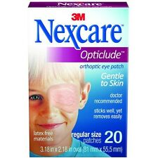 Opticlude Orthoptic Regular Nexcare Eye Patch - 20 Pcs (10 pack)