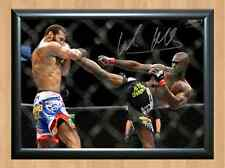 Uriah Hall UFC Kickboxing MMA WWE Signed Autographed A4 Print Poster Photo belt