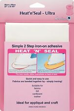 Hemline Craft Heat And Seal Fabric Material Adhesive Bond Iron On Ultra Pack