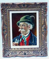 CASPER MINE SIGNED OIL PORTRAIT PAINTING IRISH PUB DRINKER BIDEN CLAN IRELAND