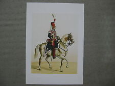 Reproduction de dessin  : chasseur à cheval de la garde royale 1824
