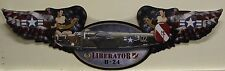 WWII AIRPLANE wing shape metal sign liberator b-24 pinup girl military plane