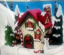 """Bucilla """"MARY'S SNOW COTTAGE"""" Felt Christmas Kit New Engelbreit House RARE 86162"""
