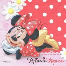 2 Serviettes en papier Minnie Mouse Mickey Disney Paper Napkins