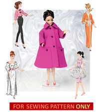 SEWING PATTERN! MAKE 11.5 INCH DOLL CLOTHES! DRESS~COAT~ROBE~PANTS! FITS BARBIE