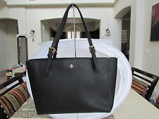 Tory Burch York Small Buckle Tote In Black Saffiano Leather $295  051016SB01