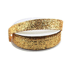 Sparkling Glitter Ribbon Wired Edge, 5/8-Inch, 10 Yards