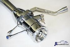 "Chrome Stainless Tilt Steering Column 32"" Ignition Key Automatic Billet Shifter"