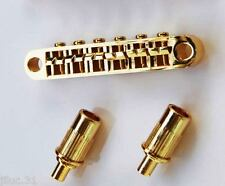 NEW BRIDGE TUNE-O-MATIC & inserts gold - pour guitare Gibson, Epiphone ...