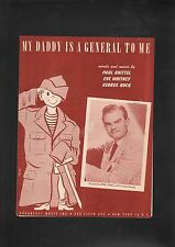 My Daddy Is A General To Me 1951 Spike Jones Sheet Music