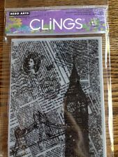 Hero Arts Clings London Background Rubber Stamp *New*