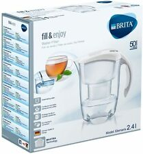 NEW BRITA Elemaris Meter Cool 2.4L Water Filter Jug with Maxtra Cartridge White