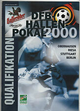 Orig.PRG  DFB Masters 2000  alle 4 Qualifikations Turniere / alle Mannschaften !