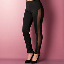 Womens ClubL Womens Fishnet Leggings in Black - 10 From Get The Label