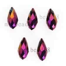 Bulk Charms Faceted Teardrop Pendant for Earring Findings Spacer Beads 6x12mm