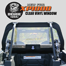 Deuce USA Polaris RZR 2017-2015 XP1000 Rear Window Vinyl 1680 Ballistic Nylon