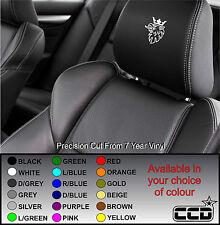 SCANIA CAR SEAT / HEADREST DECALS - Truck - Van - Vinyl Stickers - Graphics X5
