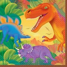 Birthday Party Pack of 16 Lunch Napkins Prehistoric Dinosaur Monster 519766