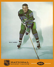Billy Harris - California Golden Seals Game Program Cover,  8x10 Color Photo
