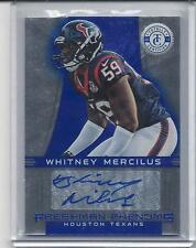 1/1 WHITNEY MERCILUS 2012 TOTALLY CERTIFIED BLUE TEXANS AUTO RC #D 59/99 JSY #59