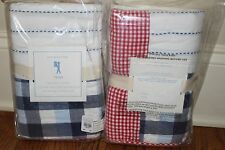 Set/6 NWT Pottery Barn Kids Tyler quilted standard shams red white navy blue