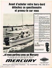 PUBLICITE ADVERTISING 105  1967  MERCURY   moteurs de bateaux hors-bord