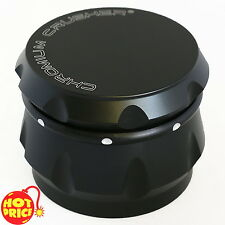 4 Piece Tobacco Herb Spice Grinder Chromium Crusher Metal Black 2.5 Inch New