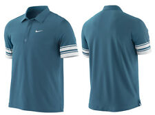 Nike Roger Federer French Open Tennis Polo Blue-white  Dri-Fit 373298-461] SZ  L
