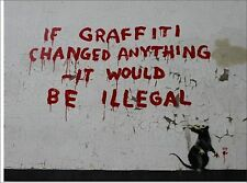 BANKSY si Graffitti Vinilo Pared, Auto, van Decal Sticker