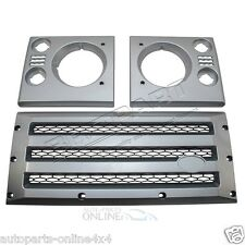 LAND ROVER DEFENDER - XS GRILLE & LAMP SURROUND - SILVER WITH BLACK MESH -DA1969