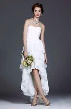 BRIDAL WEDDING DRESS GOWN AVALANA BY COAST FRILLS HI LOW HEM ASYMMETRIC UK12