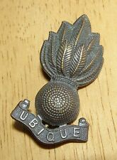 """BRITISH ARMY """"Royal Engineers"""" OFFICER'S SERVICE DRESS COLLAR BADGE WW2 PERIOD"""