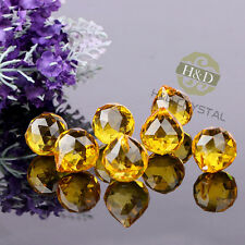 5 PCS Gold Crystal Chandelier Ball Prisms Suncatcher Pendants Wedding Decor 20mm