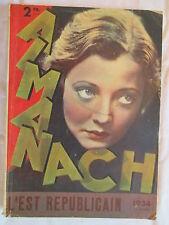 Almanach l'est républicain 1934 (Lorraine Nancy)