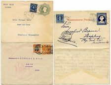 CHILE 1905-28 LETTERSHEET + 2 STATIONERY ENVS to SWISS USA + STRASBOURG GERMANY