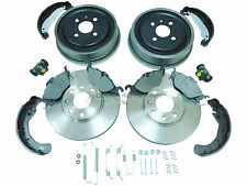 VAUXHALL ASTRA G MK4 REAR BRAKE DRUMS SHOES FRONT DISCS PADS CYLINDERS +FIT KIT