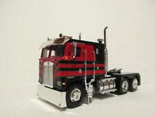 DCP 1/64 SCALE KENWORTH K100 FLAT TOP CAB OVER BLACK & RED WITH TEXAS BUMPER