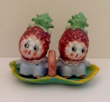 Anthropomorphic Pineapple People  Salt & Pepper Shakers With Trey Japan, 1950's