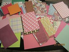HUGE LOT* 100 Assorted Scrapbook Paper Pieces * Card Making & Paper Crafts