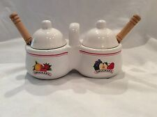 Jelly Condiment Dish Smuckers with Spoons Houston Harvest Ceramic