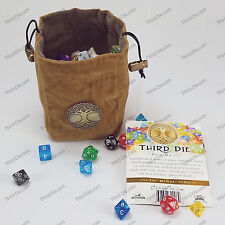 Third Die Dice Bags Reversible, Stands Open, Closes Tight - Celtic Tree Medal