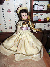 """BEAUTIFUL VINTAGE ANTIQUE 17""""  NANCY ANN STYLE SHOW DOLL IN ORIGINAL OUTFIT TLC"""