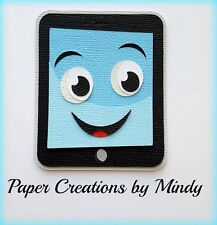 Craftecafe Mindy Tablet electronic boy girl premade paper piecing scrapbook page