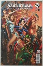 SEXY J Scott Campbell COVER ART Grimm Fairy Tales REALM WAR # 1 Age Of Darkness