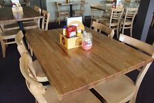 "Forever Joint Red Oak Butcher Block Top 1-1/2""x 36""x 36"" Wood Restaurant Table"