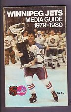 1979 80  WINNIPEG JETS 1ST YEAR NHL MEDIA GUIDE WHA AVCO CUP TROPHY SJOBERG EXC